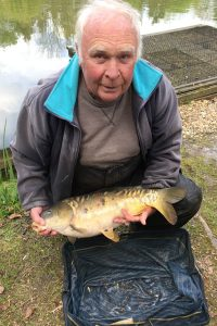 John Hehir with carp